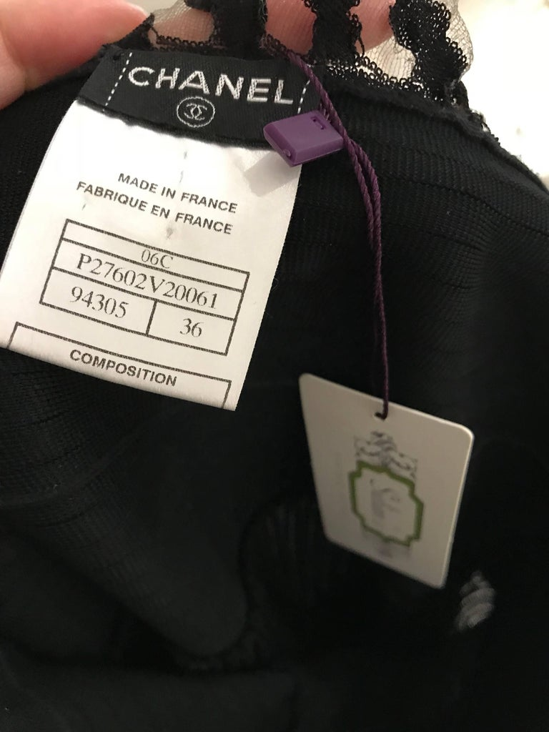 Women's CHANEL Black Knit Spaghetti Strap Cocktail Dress For Sale