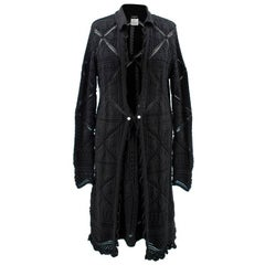 Chanel Black Knitted Cotton Skirt and Cardigan Set