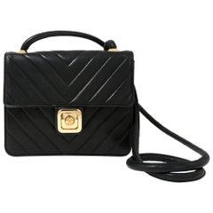 Chanel Black Lamb Leather Bag