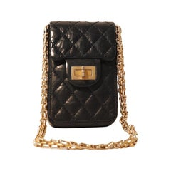 Chanel Black Lambskin 2.55 Reissue Phone Bag