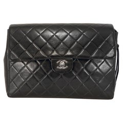 Chanel Black Lambskin Classic Flap Backpack