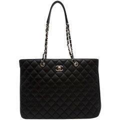 Chanel Black Lambskin Classic Shopping Tote
