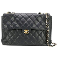 Chanel Black Lambskin Jumbo Bag