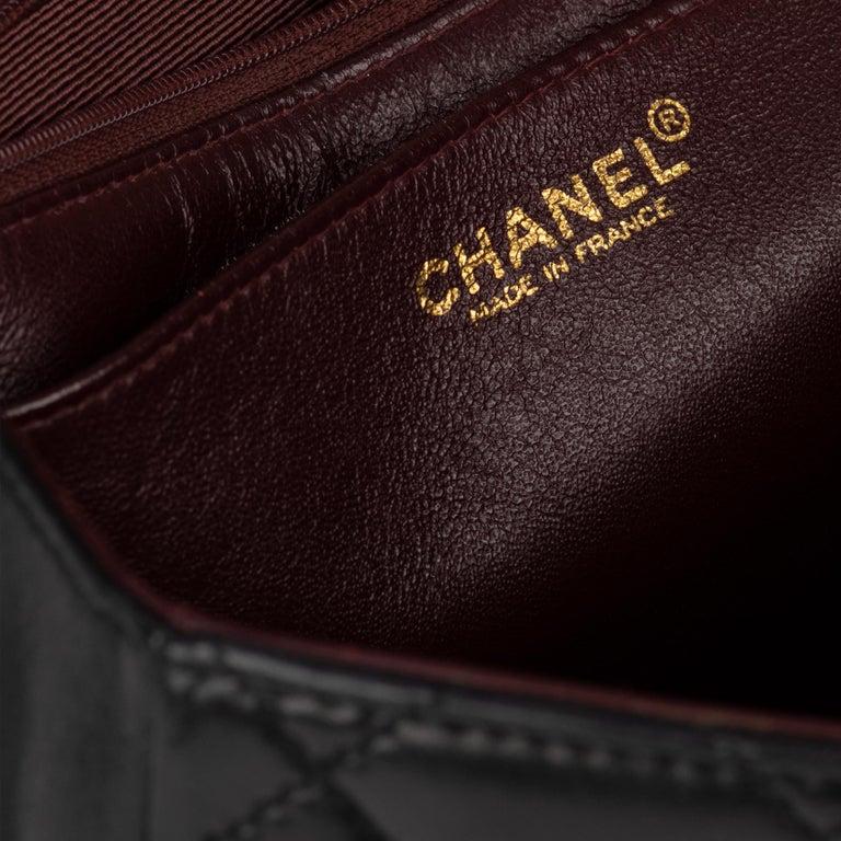 Handbag Chanel Black Lambskin Leather ! For Sale 3
