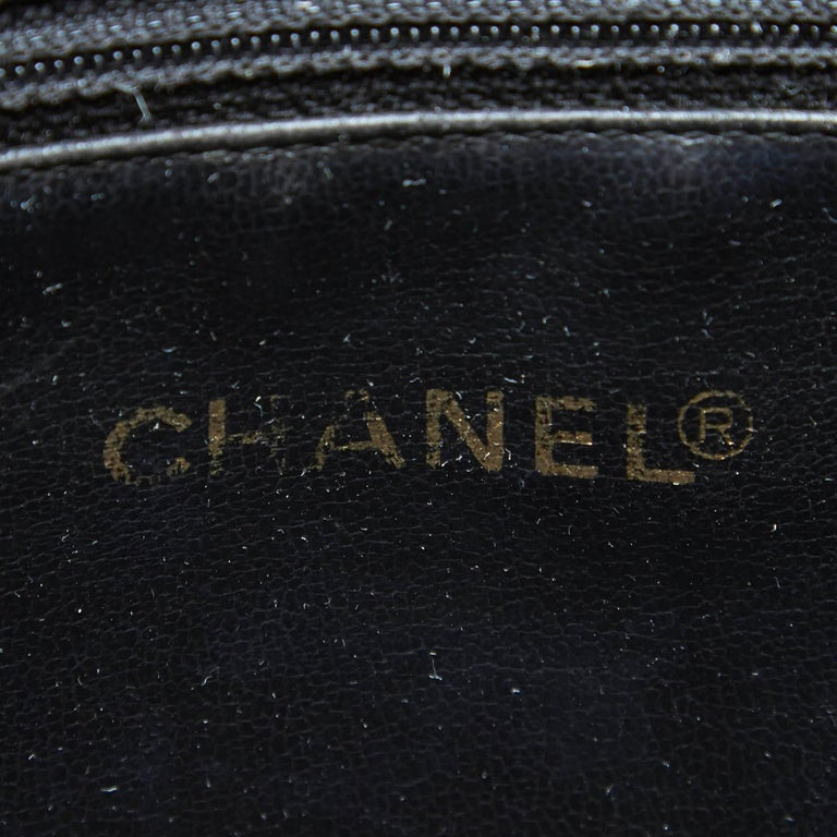 "Chanel Black Lambskin Leather Gold Toned ""CC"" Bucket Bag For Sale 1"