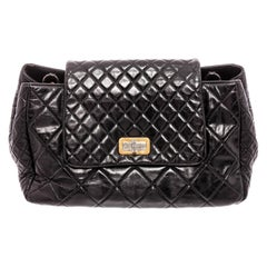 Chanel Black Lambskin Leather Reissue Accordion Flap Bag