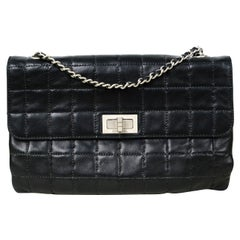 Chanel Black Lambskin Leather Square Quilted 2.55 Reissue Flap Bag