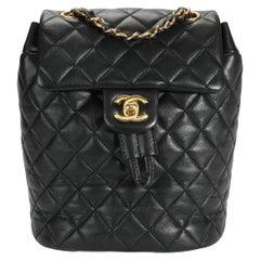 Chanel Black Lambskin Quilted Mini Urban Spirit Backpack