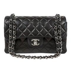 Chanel Black Lambskin Small Classic Flap Bag