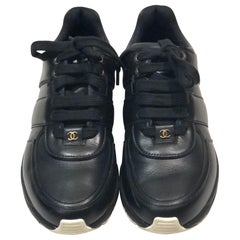 Chanel Black Lambskin Sneakers
