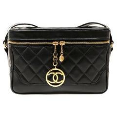 Chanel Black Lambskin Vintage Camera Bag