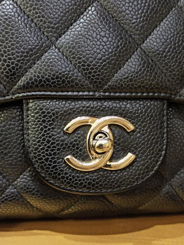 Women's Chanel Black Large Classic Bag For Sale