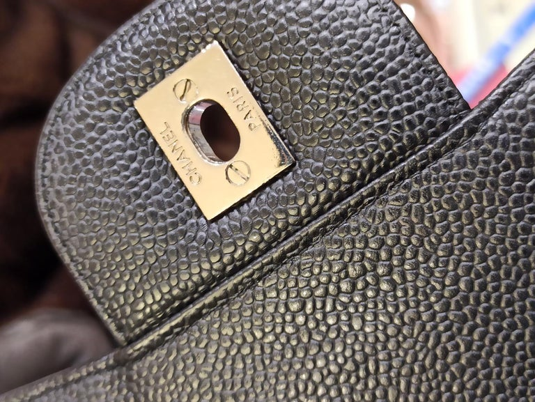 Chanel Black Large Classic Bag For Sale 1