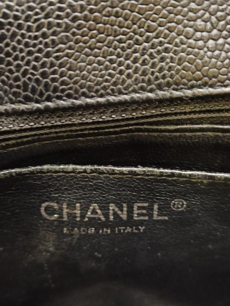 Chanel Black Large Classic Bag For Sale 2