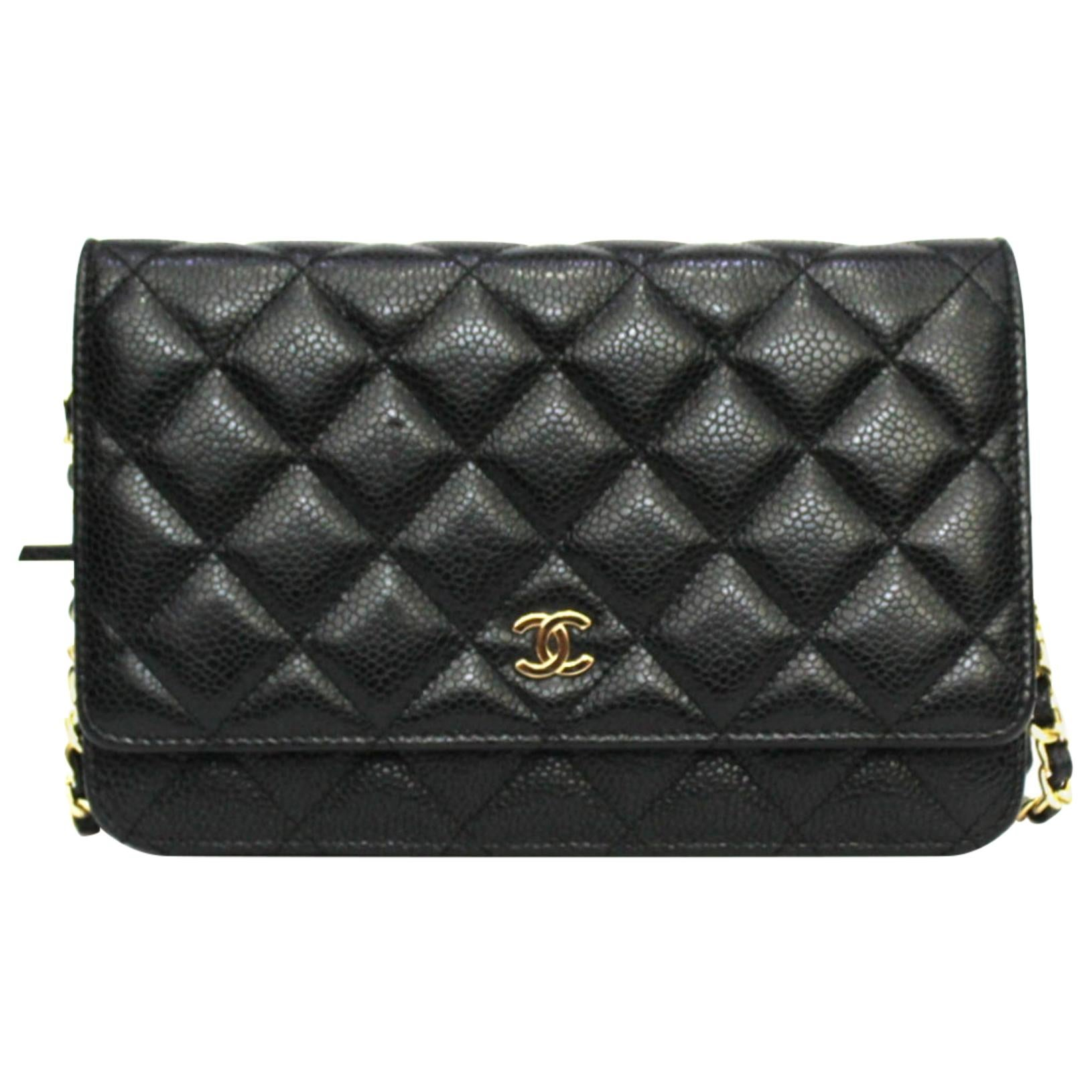 Chanel Black Learher Woc Bag