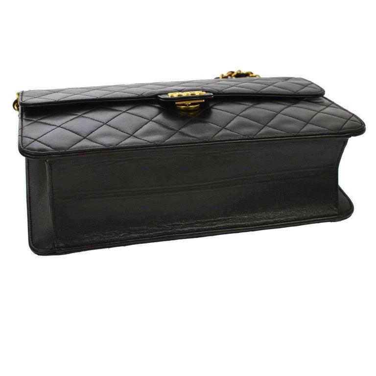 Chanel Black Leather 2 in 1 Envelope Clutch Single Flap Shoulder Bag 1