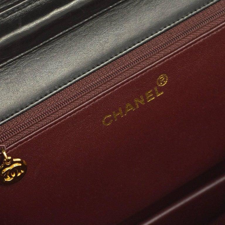 Chanel Black Leather 2 in 1 Envelope Clutch Single Flap Shoulder Bag 3