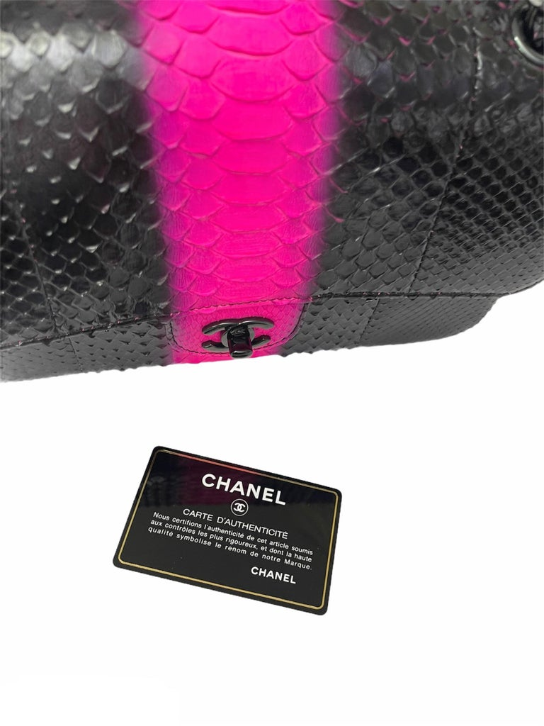 Women's Chanel Black Leather 2.55 Limited Edition Bag  For Sale