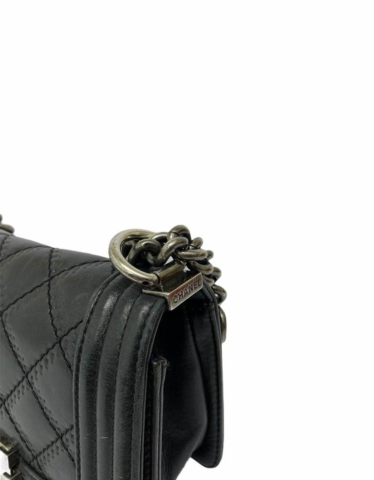 Chanel Black Leather  Boy Bag  For Sale 5