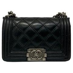 Chanel Black Leather  Boy Bag
