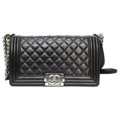 Chanel Black Leather Boy Bag
