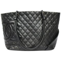 Chanel Black Leather Cambon Bag
