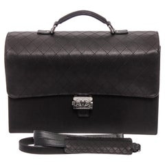 Chanel Black Leather Carryall Business Top Handle Travel Brief Briefcase Bag III