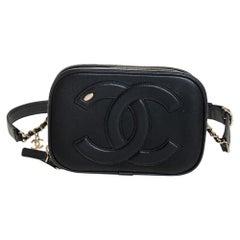 Chanel Black Leather CC Mania Waist Bag