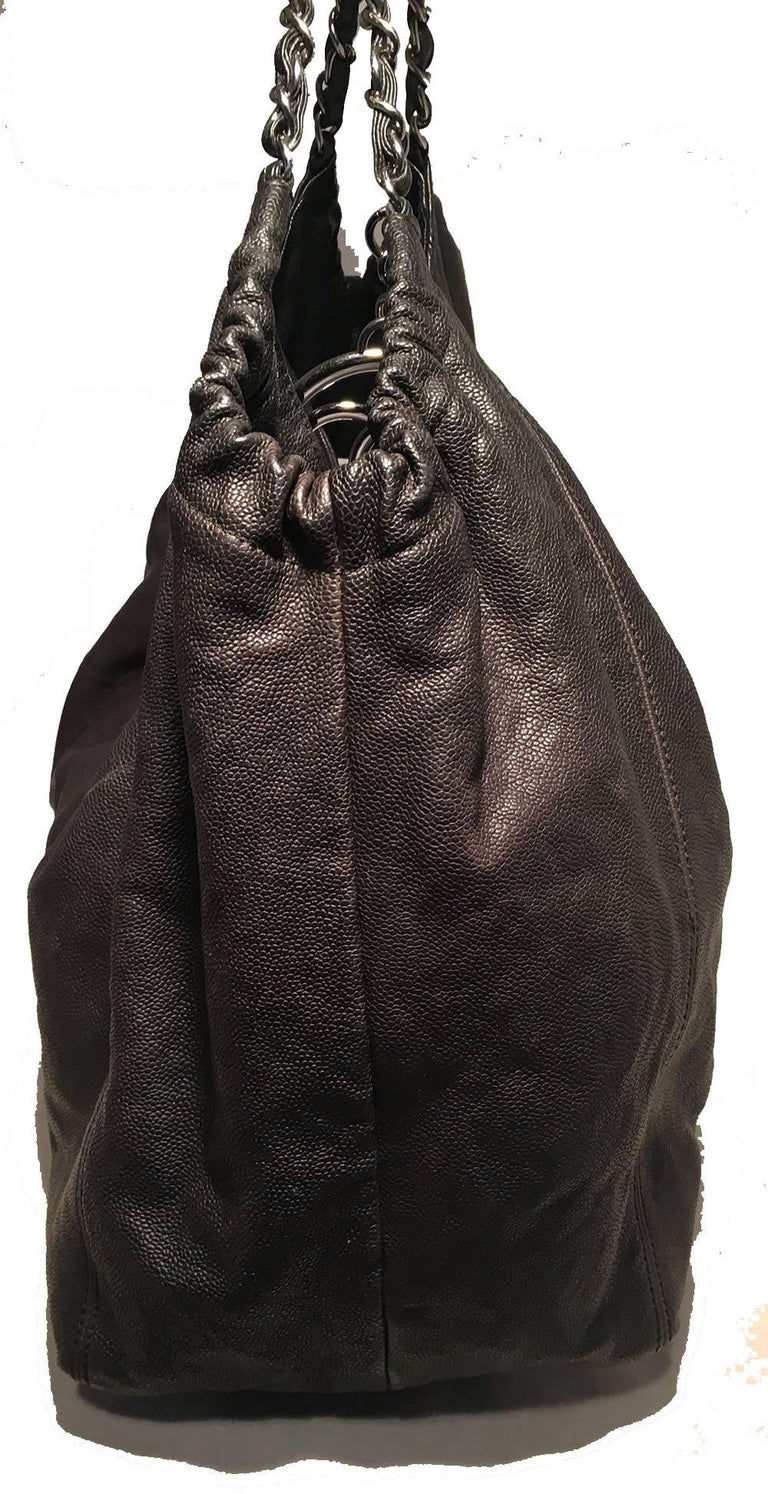 bf3d389095d5d Chanel Black Leather CC Quilted XL Shoulder Bag Tote in excellent  condition. Black leather exterior