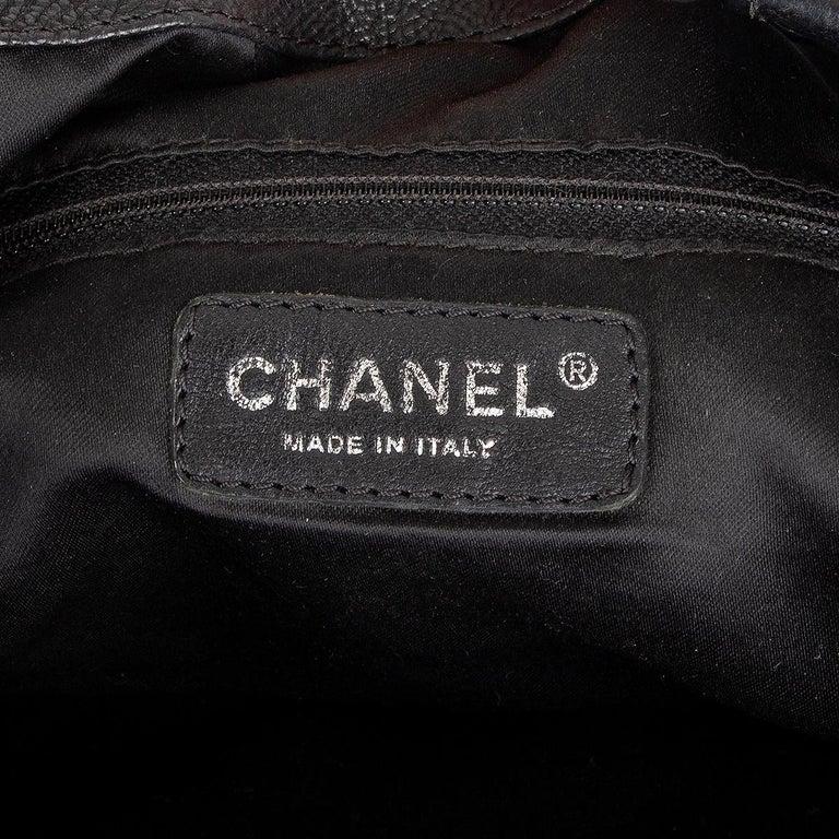 CHANEL black leather COCO CABAS Shoulder Bag For Sale 1