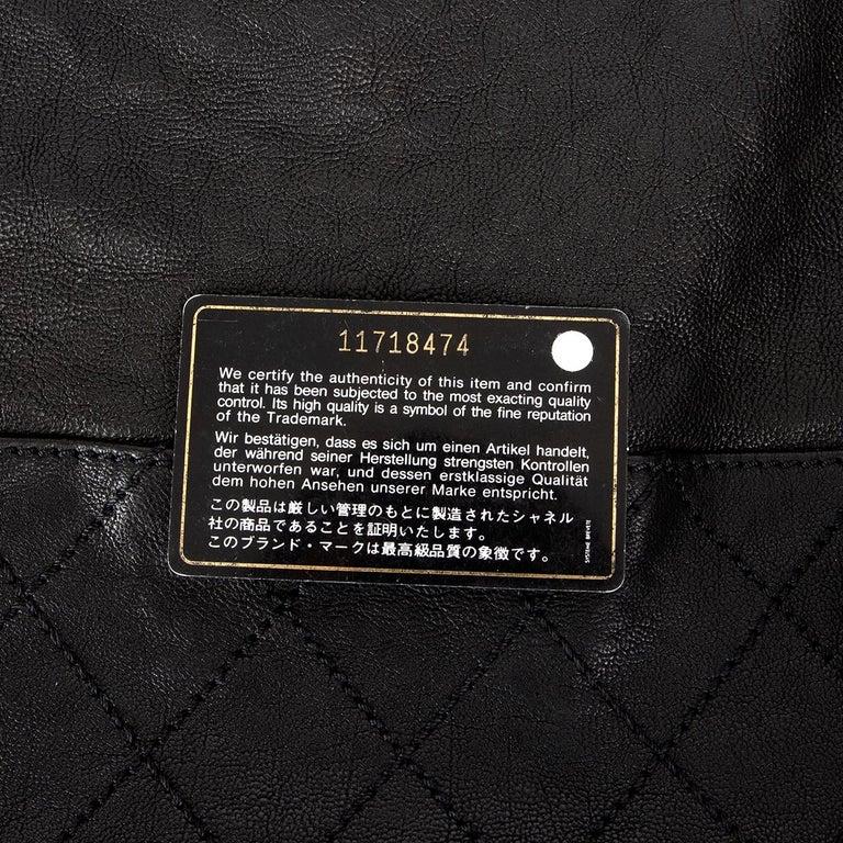 CHANEL black leather COCO CABAS Shoulder Bag For Sale 2