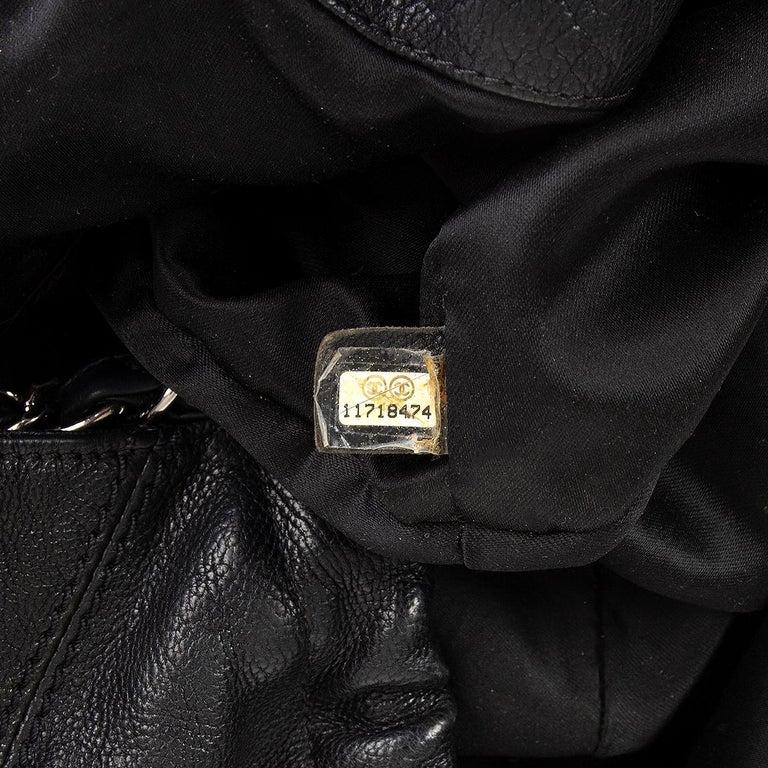 CHANEL black leather COCO CABAS Shoulder Bag For Sale 3