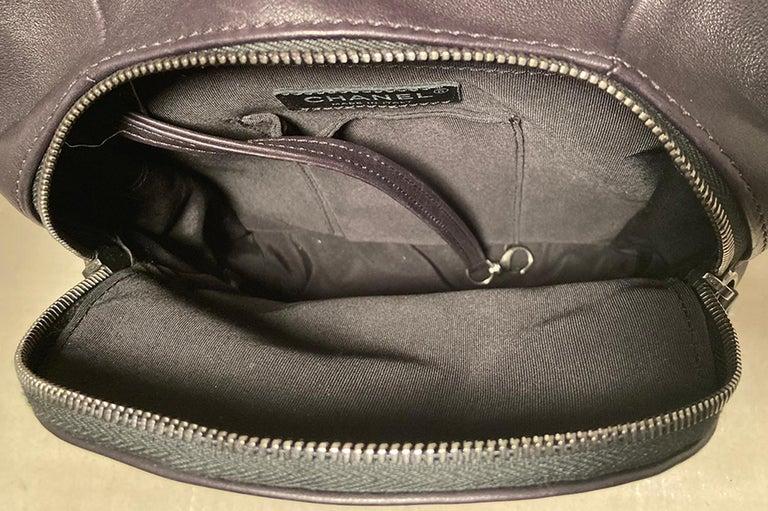 Chanel Black Leather Drawstring Backpack For Sale 7