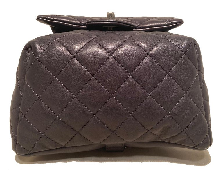 Women's Chanel Black Leather Drawstring Backpack For Sale