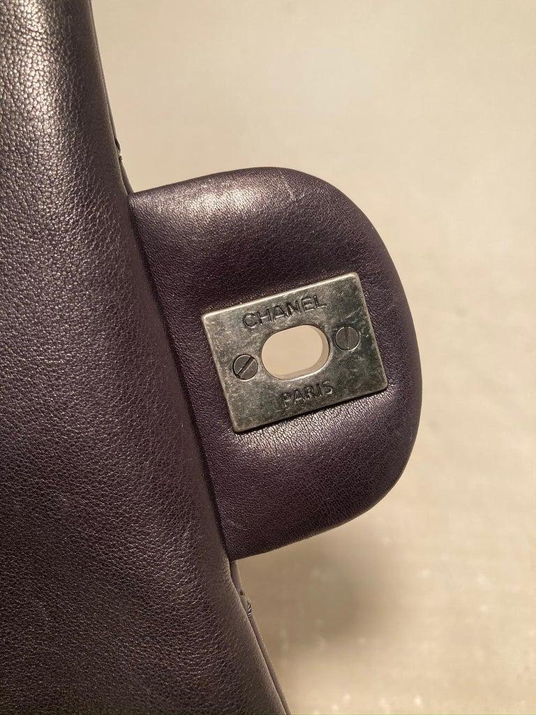 Chanel Black Leather Drawstring Backpack For Sale 3