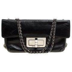 Chanel Black Leather Giant Reissue Flap Shoulder Bag