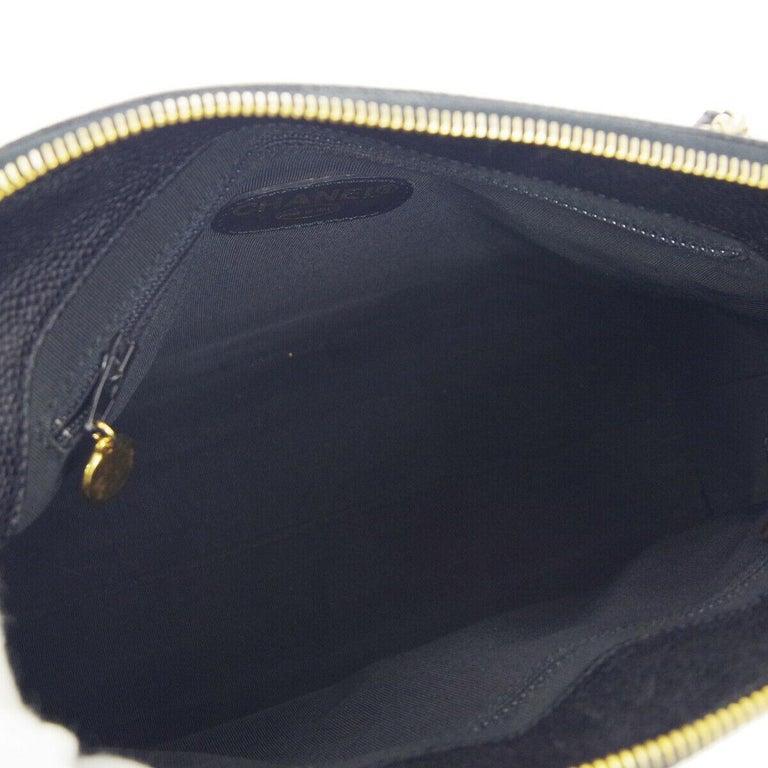 Chanel Black Leather Gold Chain Medium Carryall Shopper Tote Shoulder Bag For Sale 2