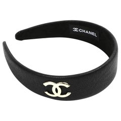 Chanel Black Leather Headband