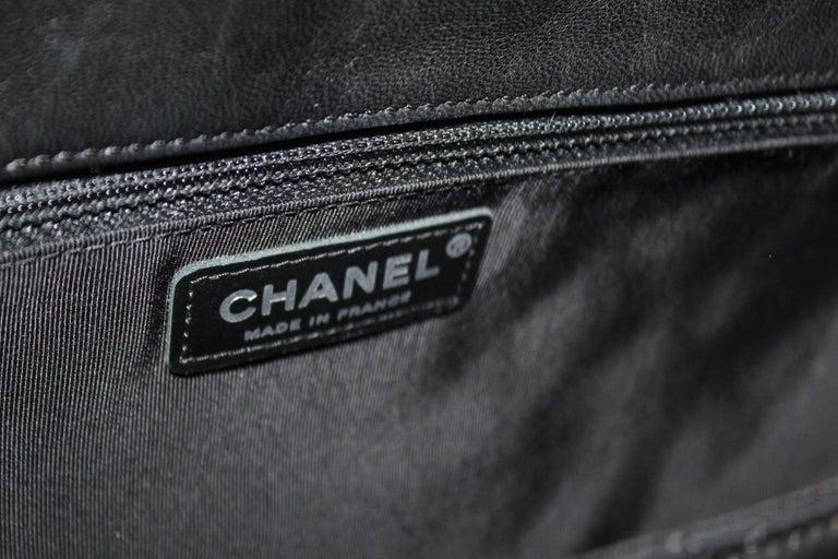 Chanel Black Leather Hula Hoop Shoulder Bag For Sale 1