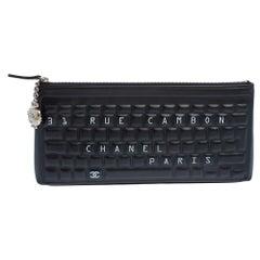 Chanel Black Leather Keyboard Clutch