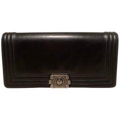 Chanel Black Leather Le Boy Clutch