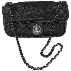 Chanel Black Leather Lion Bag