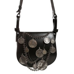 Chanel Black Leather Medallion Coins Saddle Bag- Runway