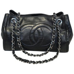 Chanel Black Leather Mini Duffle Shoulder Bag
