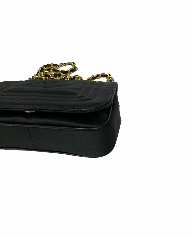 Chanel Black Leather Mini Vintage Bag In Good Condition For Sale In Torre Del Greco, IT