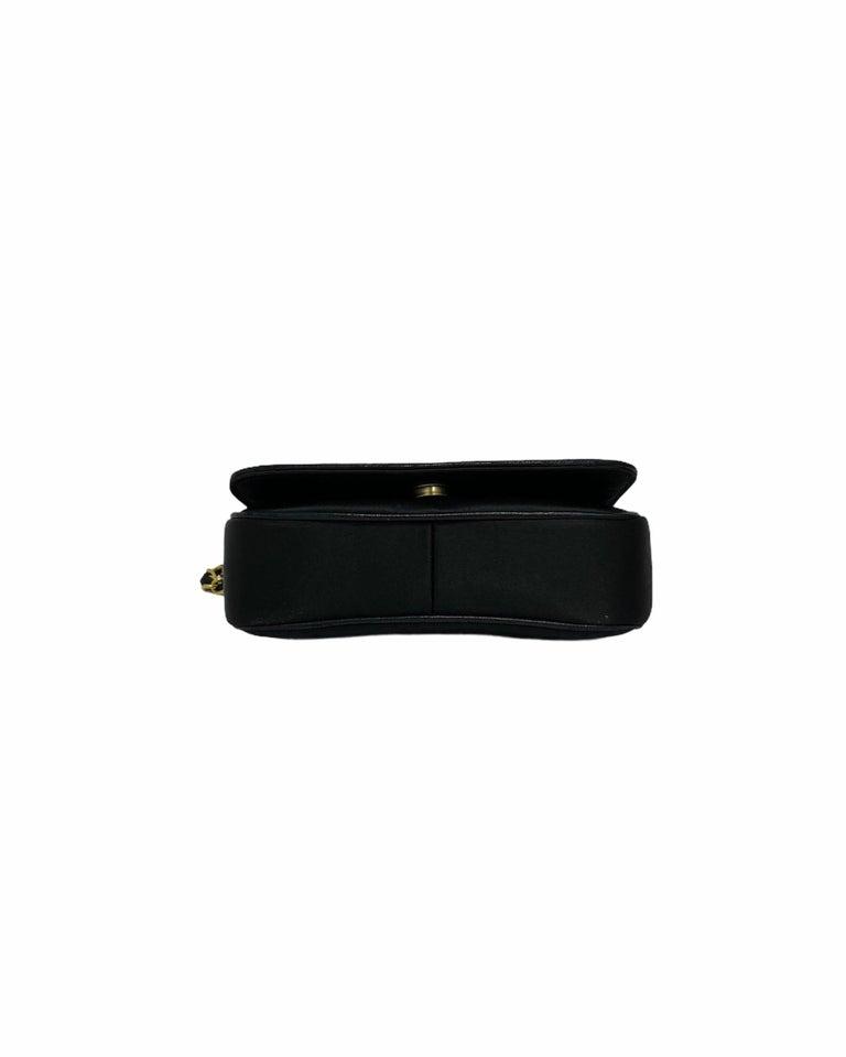 Chanel Black Leather Mini Vintage Bag For Sale 1