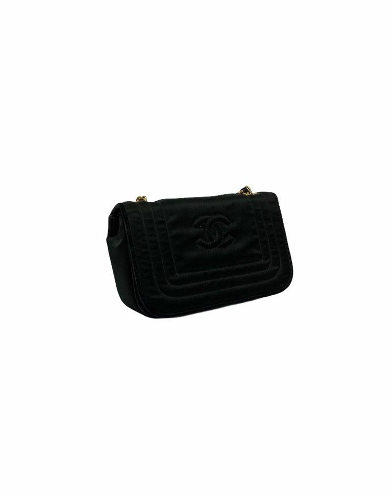 Chanel Black Leather Mini Vintage Bag For Sale 4