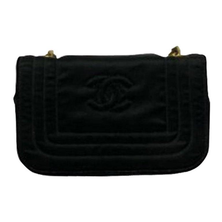 Chanel Black Leather Mini Vintage Bag For Sale