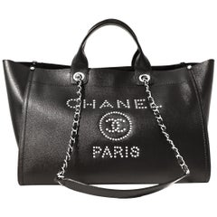 Chanel Black Leather Runway Tote