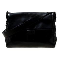 Chanel Black Leather Shoulder Bag